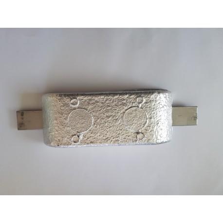 Anodes aluminium rectangle